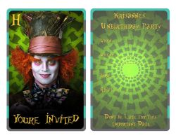Mad Hatter Invitation by EpikAsia