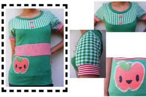 Gingham and Stripes Happy Appl by 231705