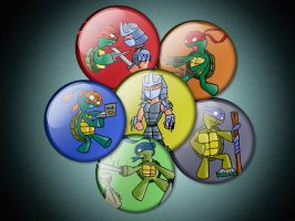 TMNT Badge Collection by Buxtheone