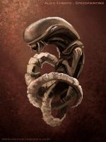 Embryo Alien Speedpainting by nathaliagomes