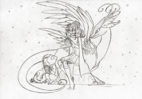 Fara and The Butterfly Dragon (Crossover) by farahin001