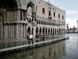 High water in Venice by saracco