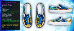 WOW Alliance custom shoe by corArze