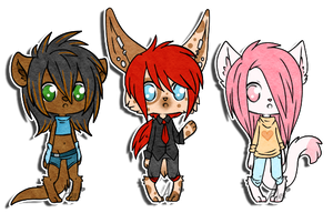 Chibi Anthros: SOLD by Alex-Adopts