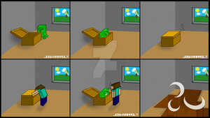 Minecraft Creeper comic by JoshRappolt