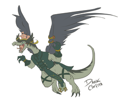 Wingdragon y clefa by Dark-Clefita