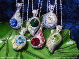 Polymer Clay Pendants - Colour Customisable by plasterfish