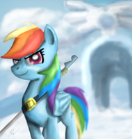 Rainbow Dash the Guard. by Phendyl