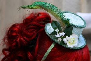 IF: Secret Garden Mini Hat by A-Little-White-Lie
