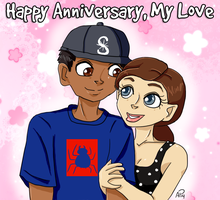 Belated Anniversary Drawing by Miss-Mae