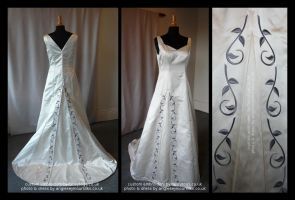 Custom Embroidery for Wedding Dress by FancyTogs
