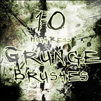 10 HighRess Grunge Brushes by eGregory