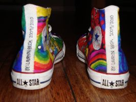 Alice in Wonderland Shoes: 5 by underneath-the-paint
