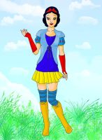Snow White in modern clothes by Sheerisan