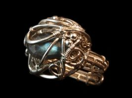Spectacular Labradorite Ring by FILIGRY