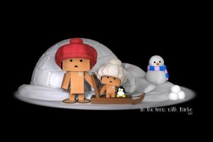 In the Snow with Danbo by Dani3D