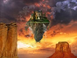 Floating castle by Eithen