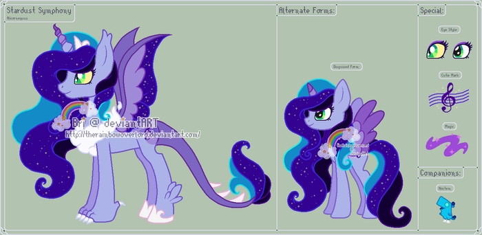 MLP - Stardust Symphony Reference Sheet by theRainbowOverlord