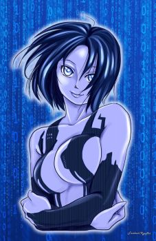Cortana from Halo 4 by KyotoxArt