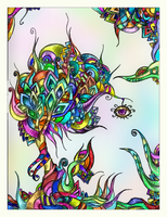 colored psychedelic tree by Tellaine