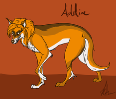 Addie as a Wolf by Nadyanilo