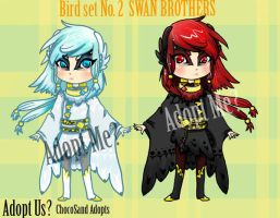 Bird Set. No.2 [CLOSED] Swan Brothers by ChocoSand