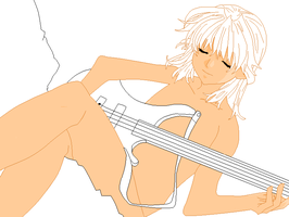 Girl with Guitar Base by A-I-T