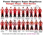 Power Ranger Keys Red Set - Proposal by LavenderRanger
