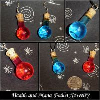 Health and Mana Potion Charms by YellerCrakka