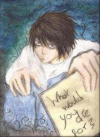L Lawliet by MorrigainCrow