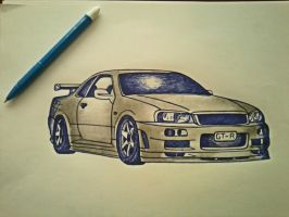 Nissan Skyline GTR 34 by Dina27
