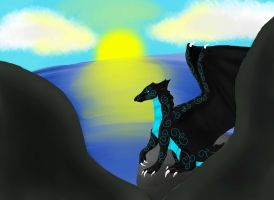 Shashy Cain overlooking the sea by xLeilla