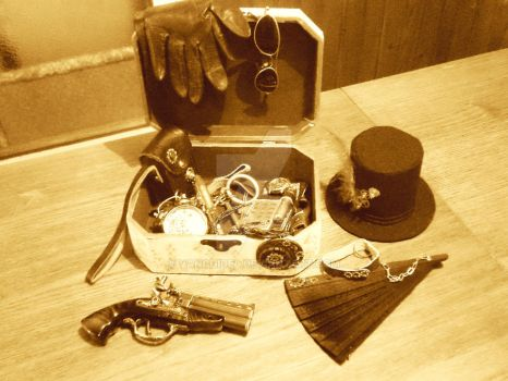 Accessories of a steampunk lady by vanchidel