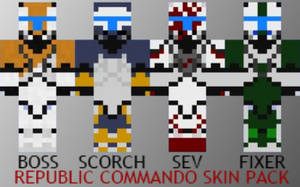 Republic Commando Minecraft Skin Pack by FreeYogurt