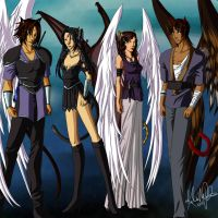 Commission - The Four by Isadora-Legata