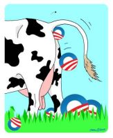 Obama Cow Manure Logo by Conservatoons