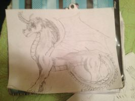 Dragon America Final Drawing by Toonanimals