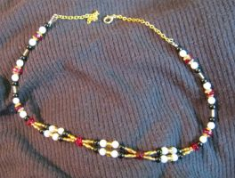 necklace - red and gold by Galasdian