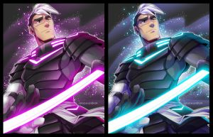 Commission: Warrior Armor Shiro by zillabean