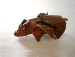 Flying Origami Pig by mitanei