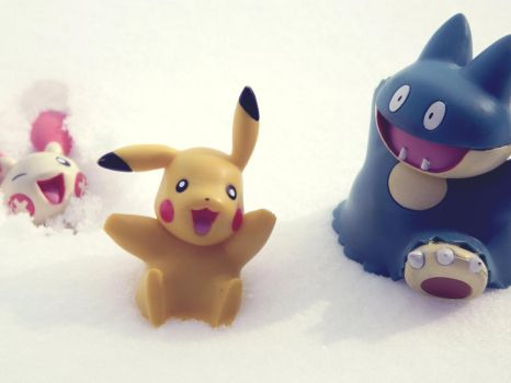 Playing in the Snow by pkmntraineraurora