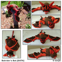 Bat plush by sorjei
