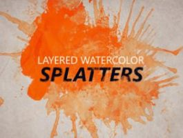 Layered watercolor splatters by brushads