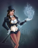 Zatana pin up by kdart by k-d-art