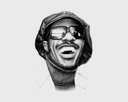 Stevie Wonder by ZZeeEE