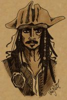 Dramatic Captain Jack Sparrow by Shmivv