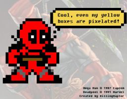 Deadpool: The Mega Man Style by KillingRaptor