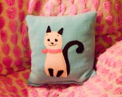 Kitty Pillow by someweirdcrab