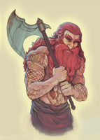 Hibbary's Gimli (Coloured) by pixolith