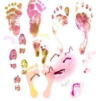 Footprints Brushes by memories-stock